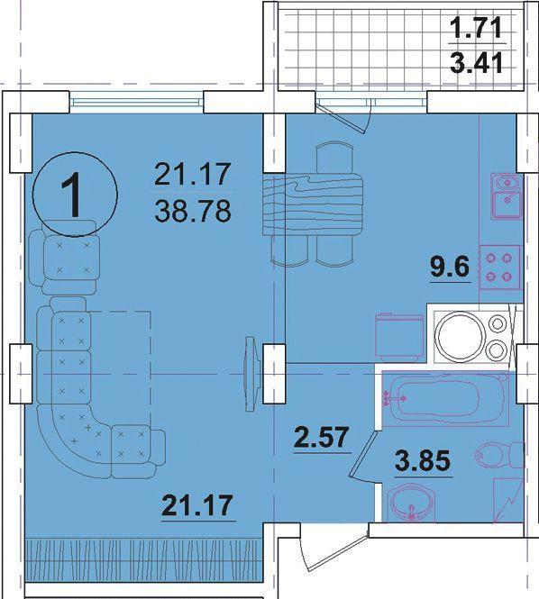 """Жилой комплекс """"радужный"""" дом 8: планировка планировка 6 - о."""